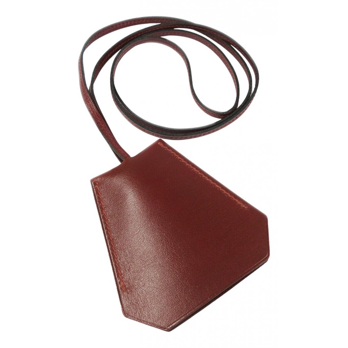 Hermes - Collier   pour femme en cuir - marron