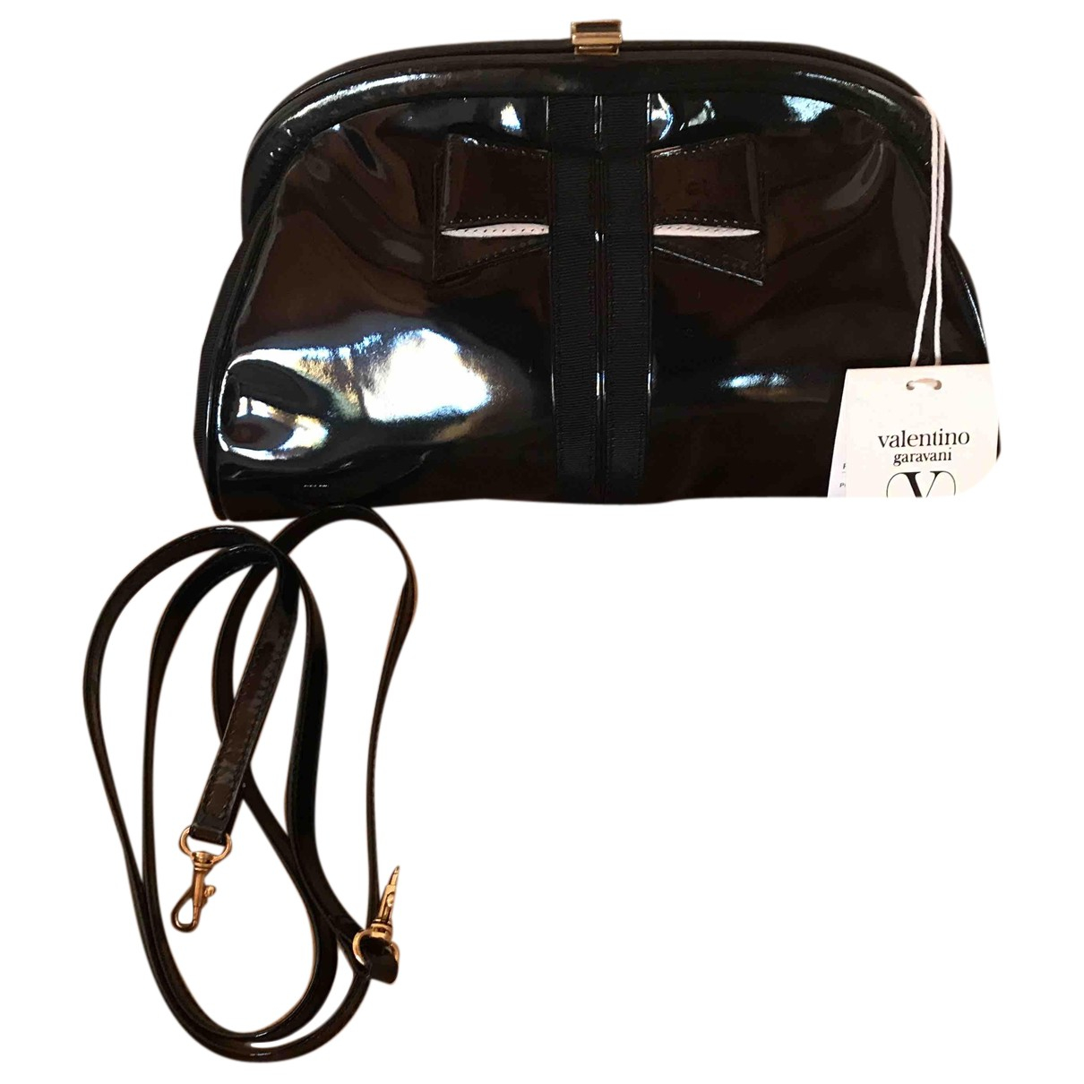 Valentino Garavani N Black Patent leather handbag for Women N