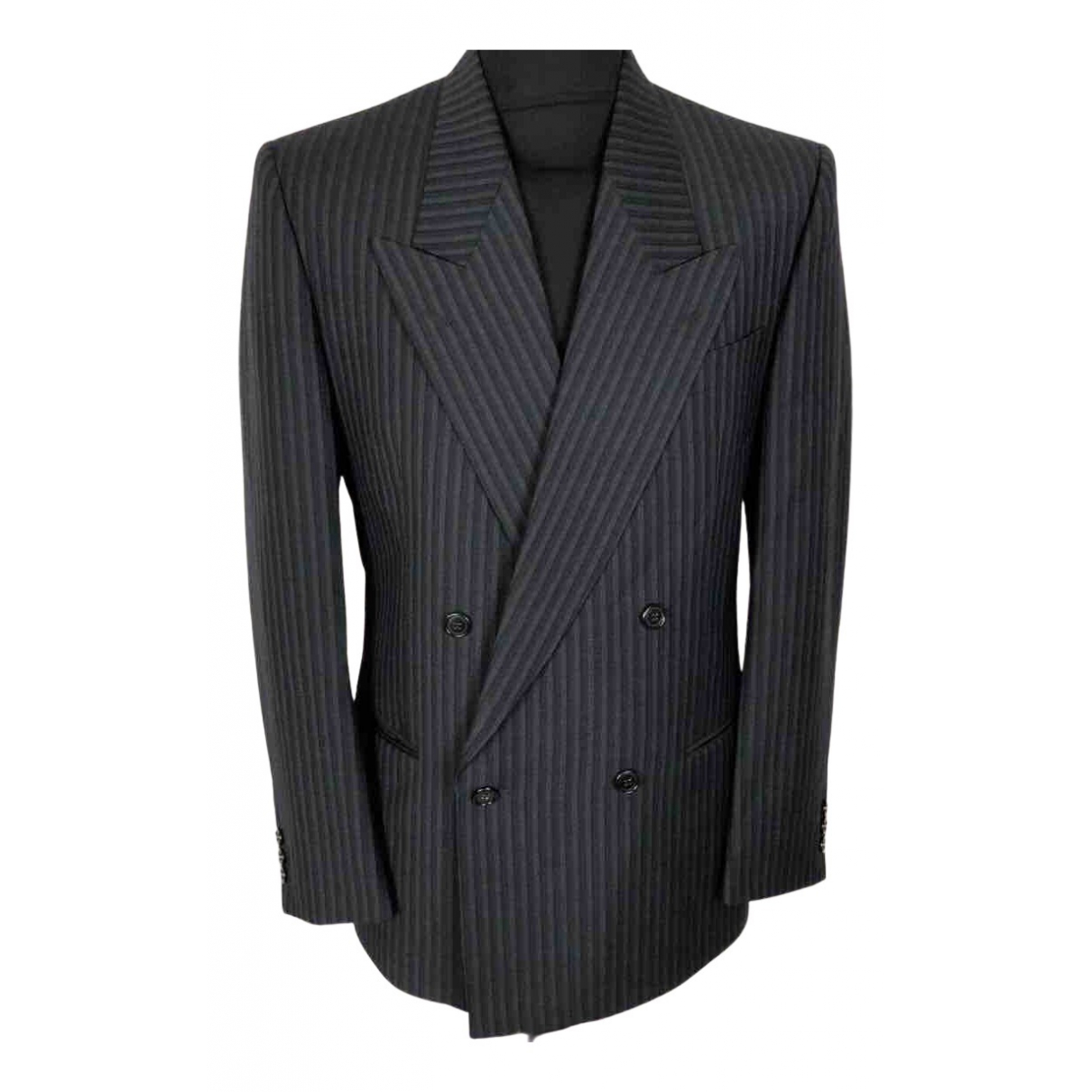 Non Signé / Unsigned N Blue Wool jacket  for Men M International