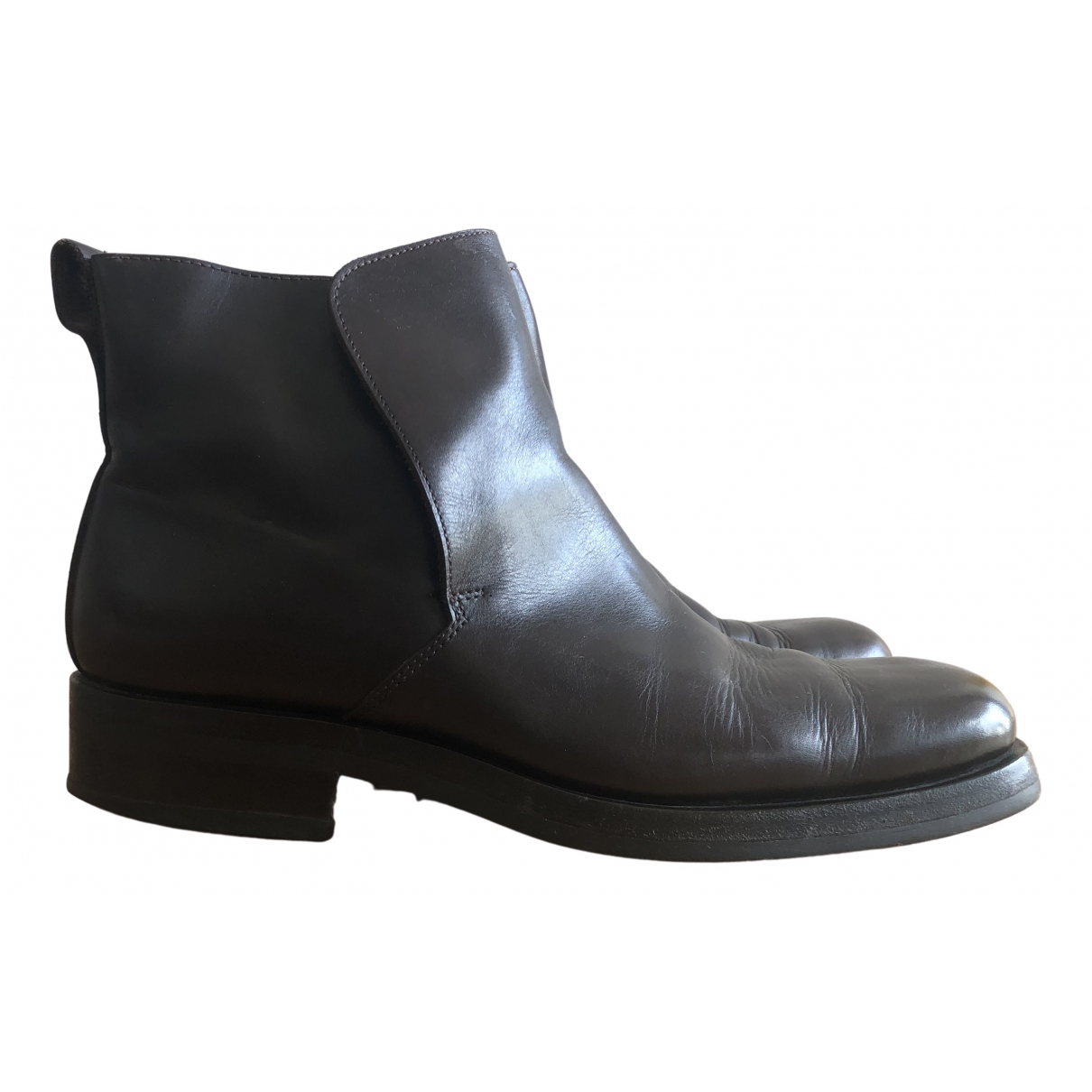 Gucci \N Brown Leather Boots for Men 40.5 IT