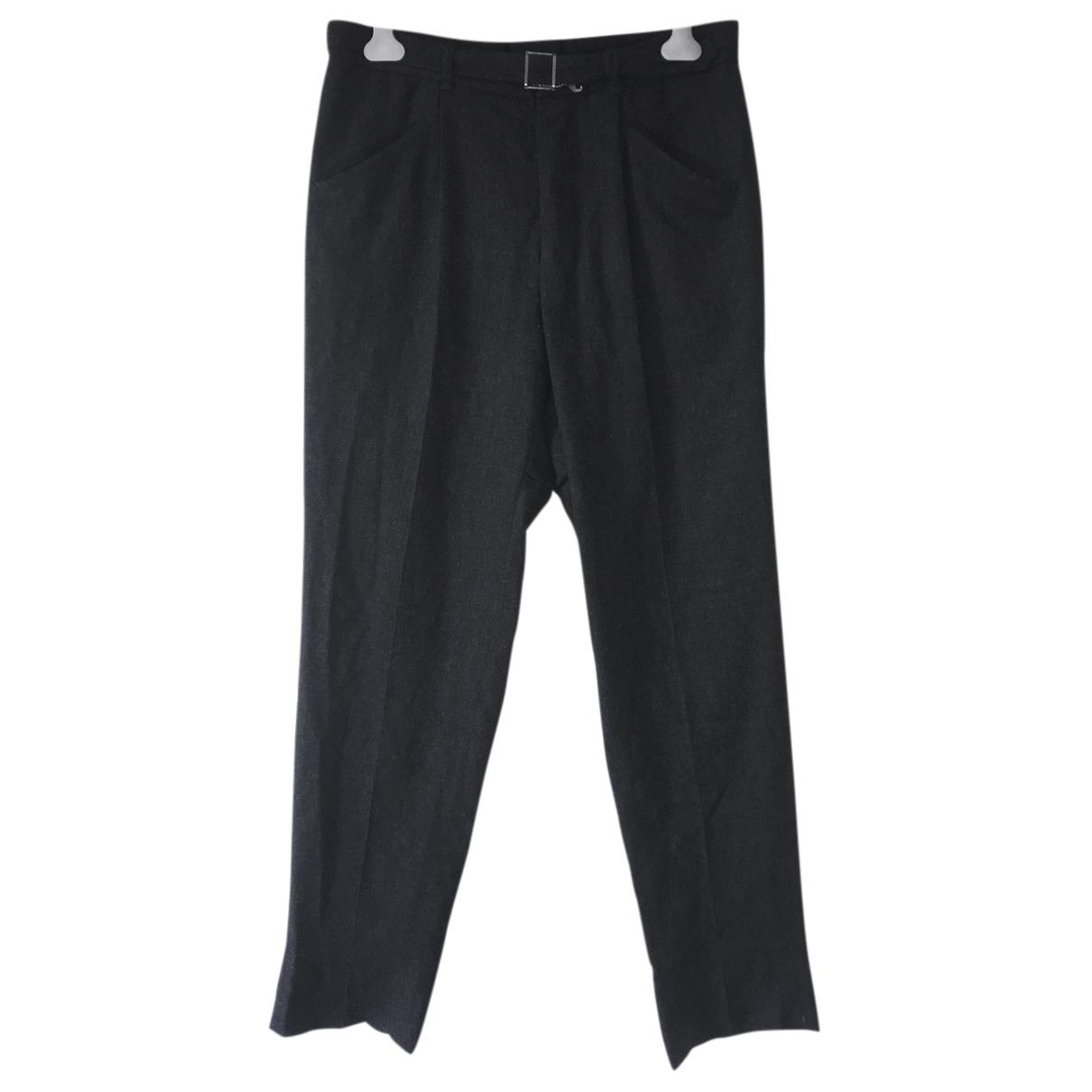 Yves Saint Laurent \N Grey Wool Trousers for Men 48 FR