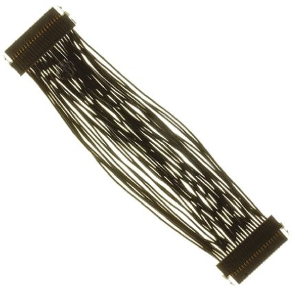Samtec 127mm, 20-Pin TFM-WT to 20-Pin TFM-WT, Serial Cable Assembly