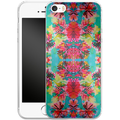 Apple iPhone 5s Silikon Handyhuelle - Tropical Floral von Amy Sia