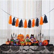 Halloween Decorative Paper Tassel 10pcs