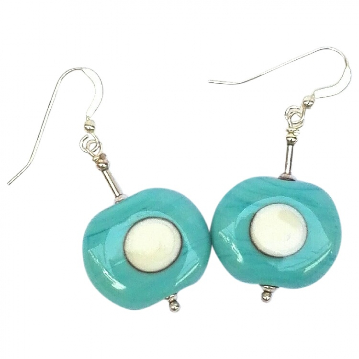 Non Signé / Unsigned Motifs Ethniques Blue Crystal Earrings for Women \N