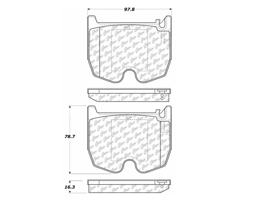 StopTech 105.0983 PosiQuiet Ceramic Pads Mercedes-Benz Front