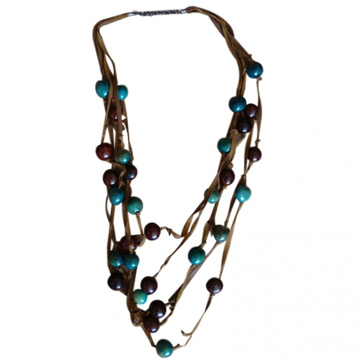 Non Signé / Unsigned Motifs Ethniques Turquoise Metal Long necklace for Women \N