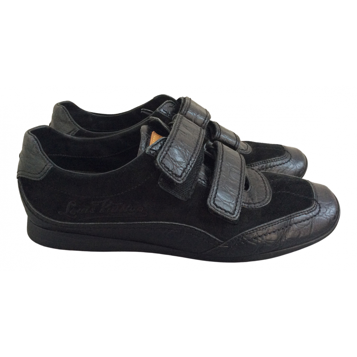 Louis Vuitton \N Sneakers in  Schwarz Leder