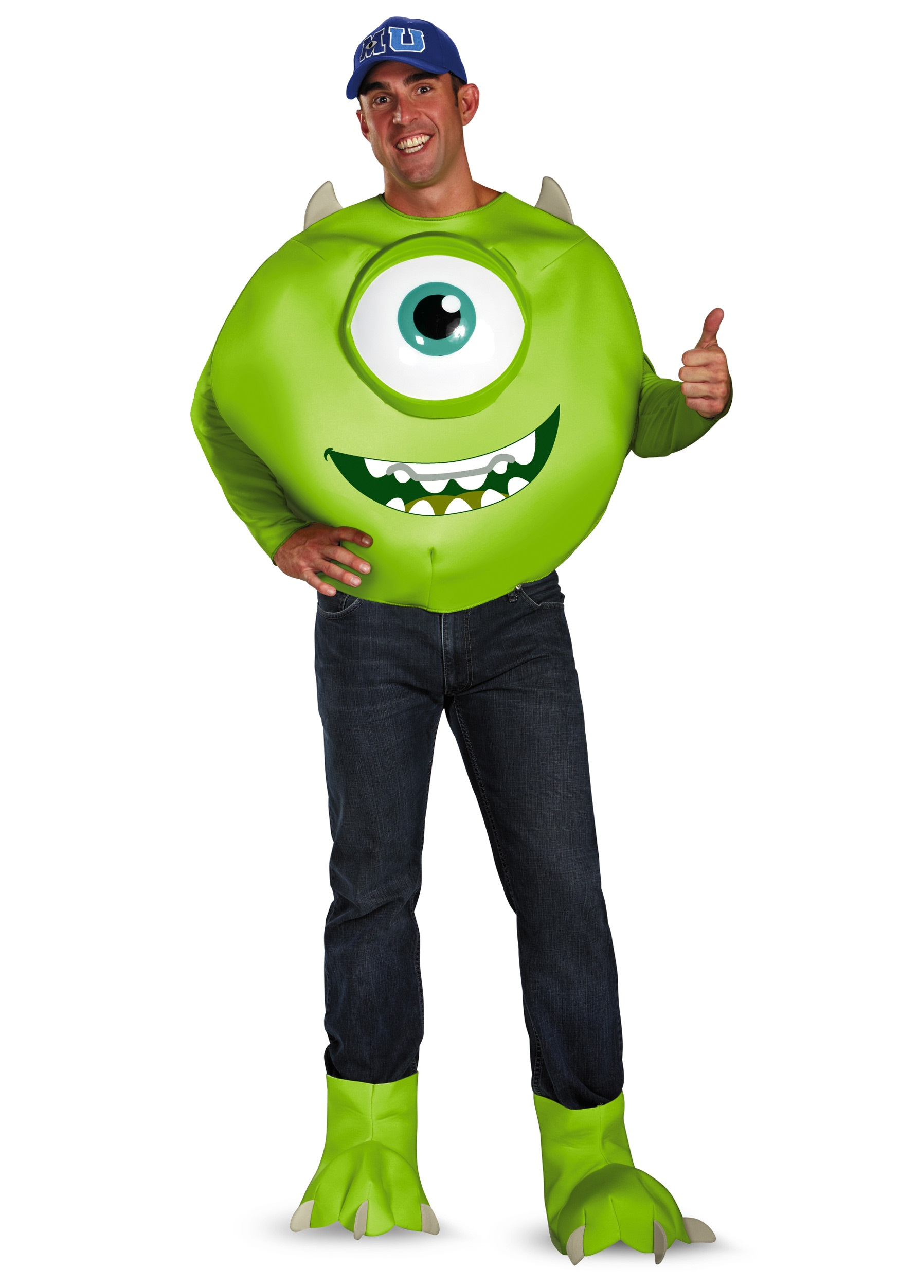 Monsters Inc Plus Size Deluxe Mike Costume 2X