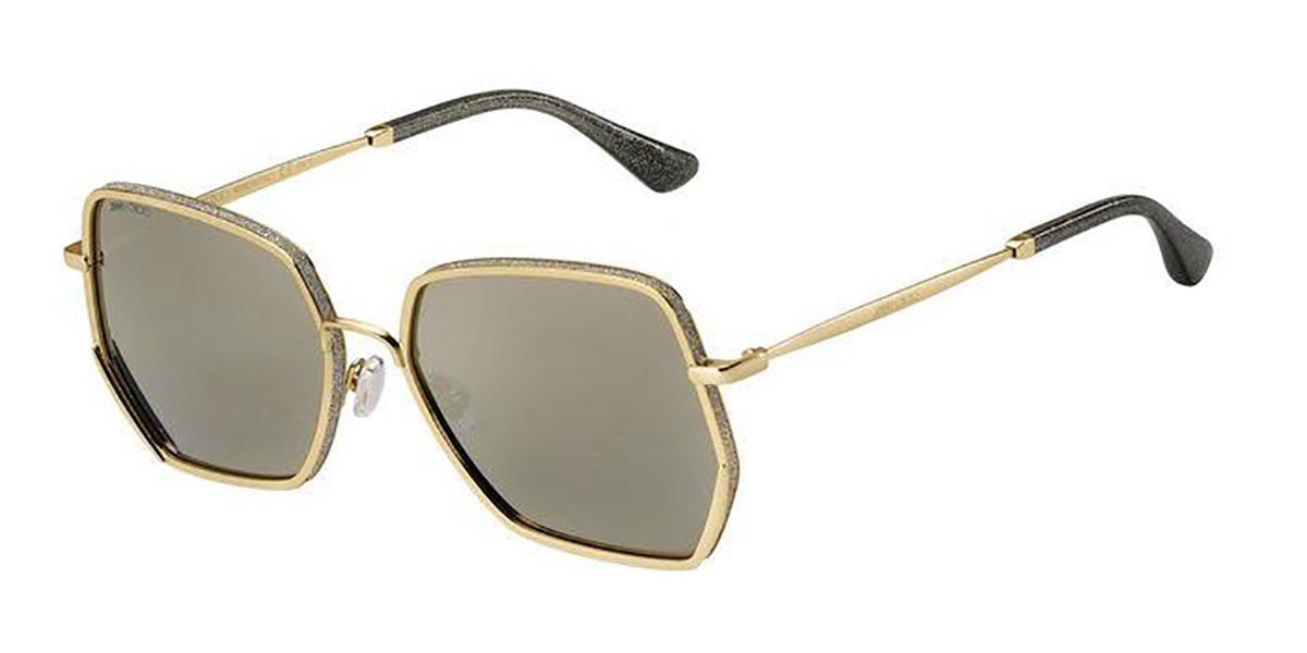 Jimmy Choo ALINE/S J5G/JO Women's Sunglasses Gold Size 58
