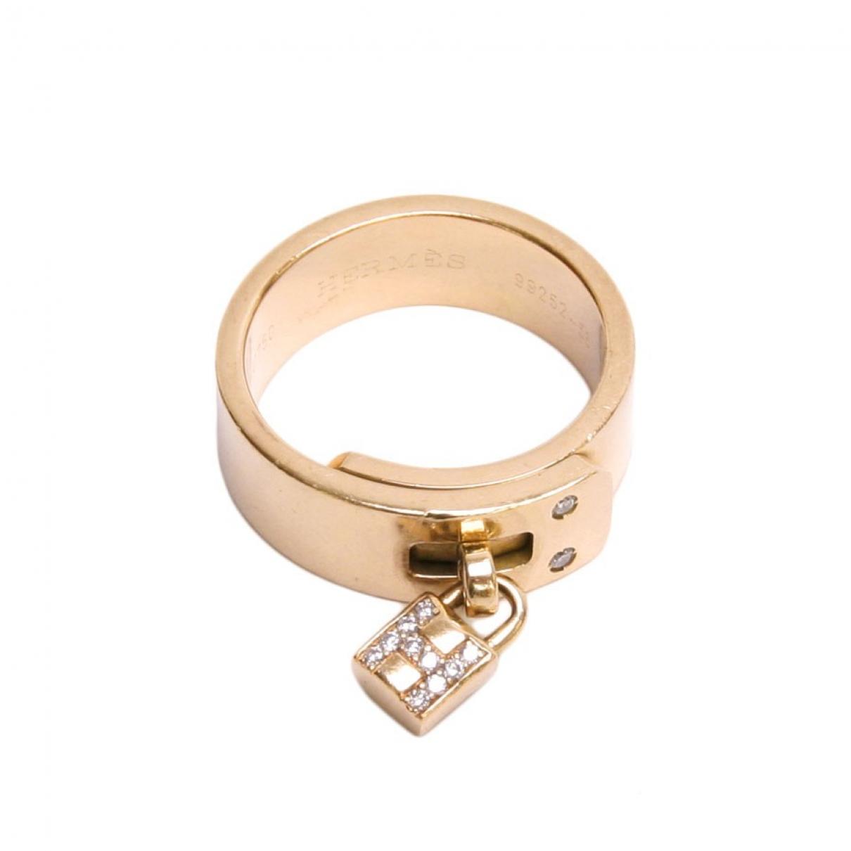 Hermes - Bague Kelly pour femme en or jaune - dore