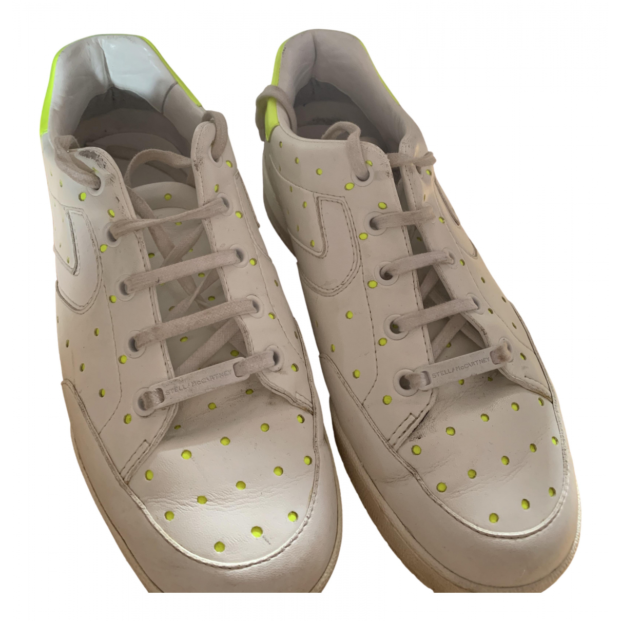 Stella Mccartney \N White Leather Trainers for Women 38 EU