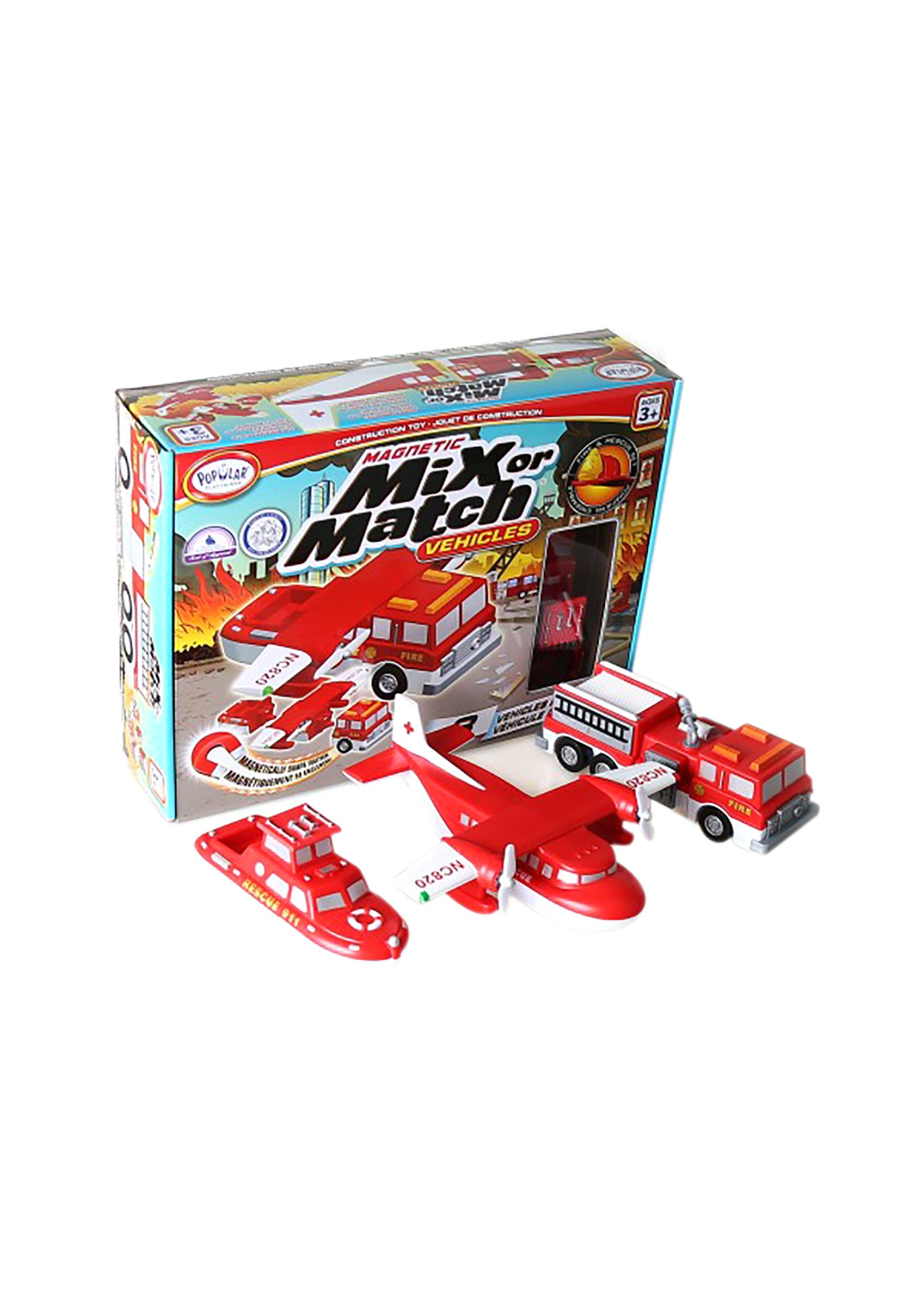 Magnetic Mix or Match Fire & Rescue Vehicles