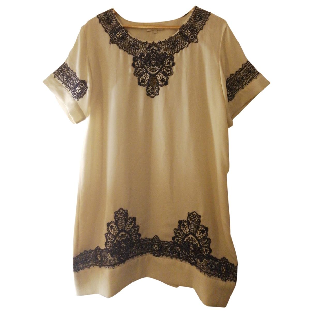 Anthropologie \N Kleid in  Ecru Polyester