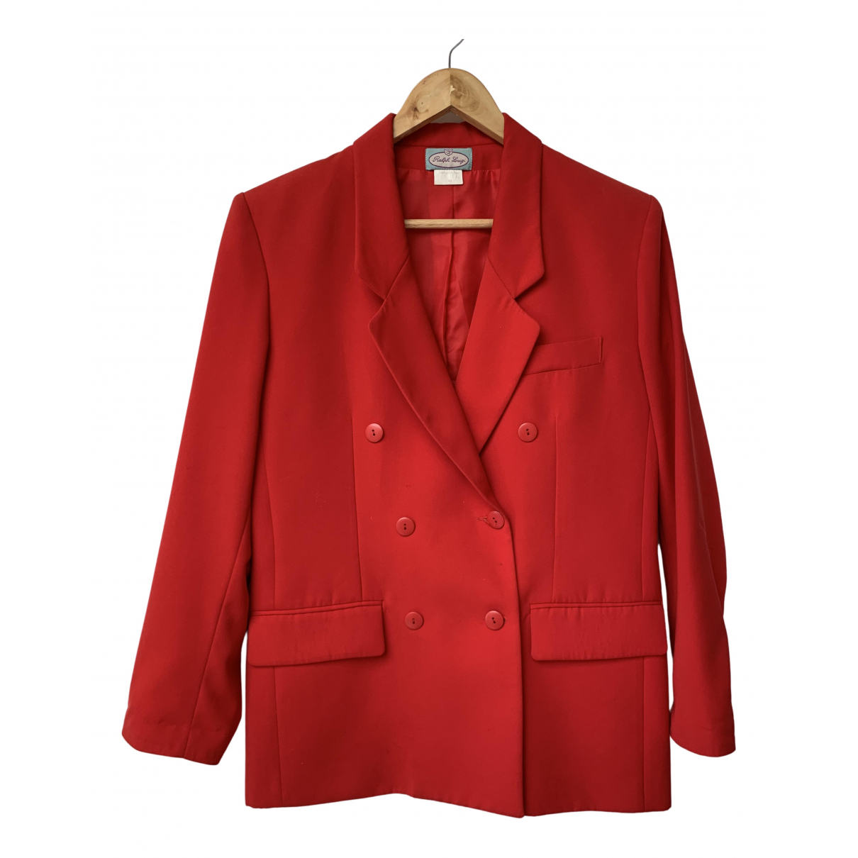 Non Signe / Unsigned \N Jacke in  Rot Wolle