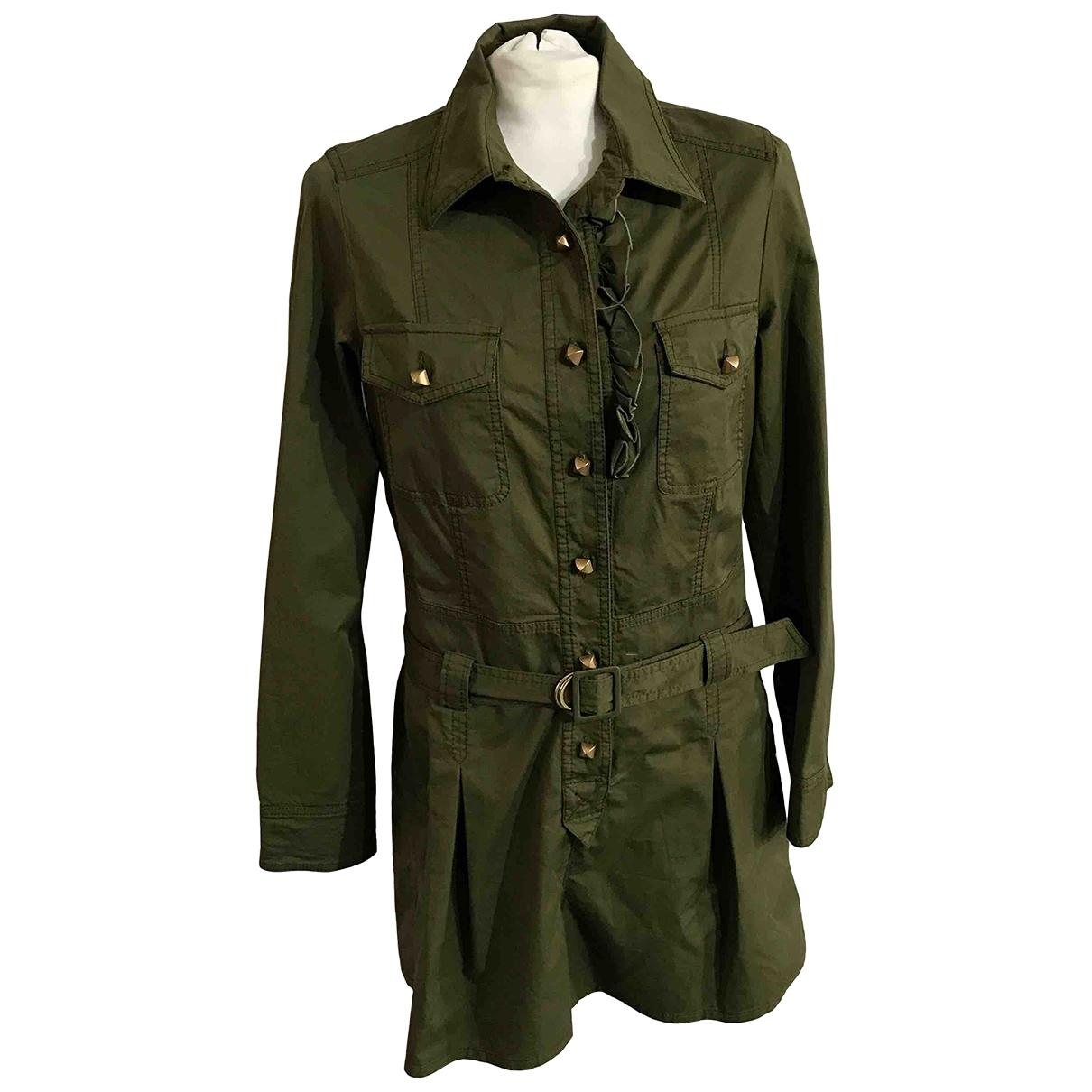 Red Valentino Garavani \N Green Cotton dress for Women 44 IT
