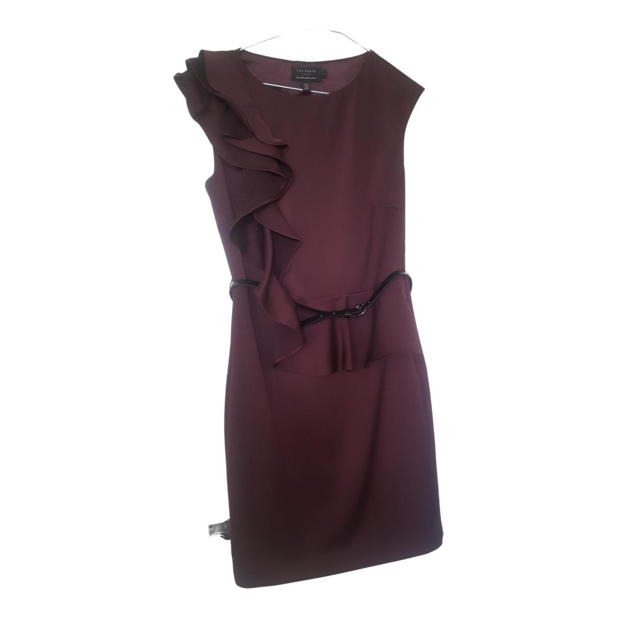 Ted Baker \N Kleid in  Bordeauxrot Polyester