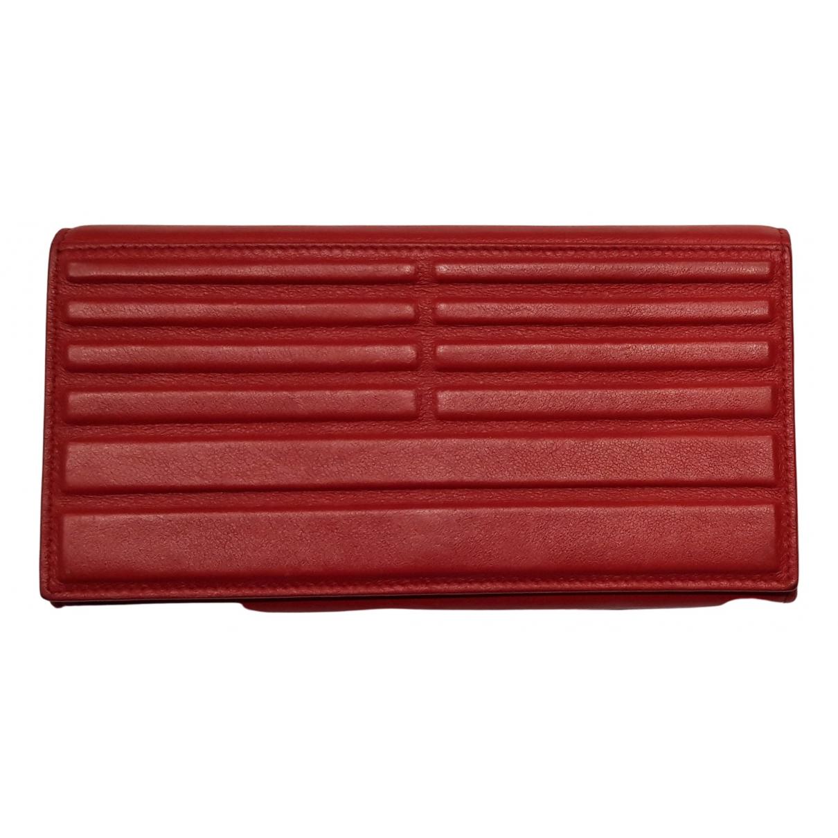 Elie Saab - Portefeuille   pour femme en cuir - rouge