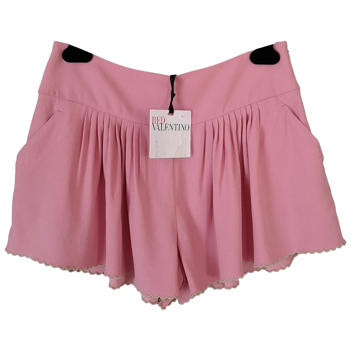 Red Valentino Garavani \N Shorts in  Rosa Synthetik
