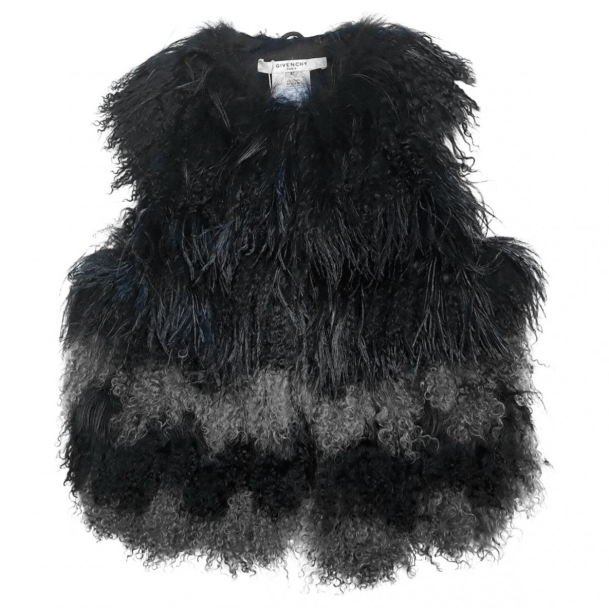 Givenchy - Veste   pour femme en fourrure - noir