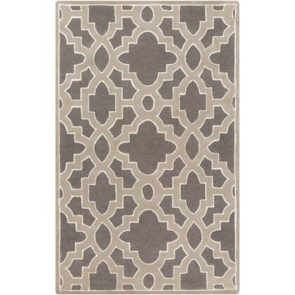 CAN2037-58 5' x 8' Rug  in Medium Gray and Taupe and