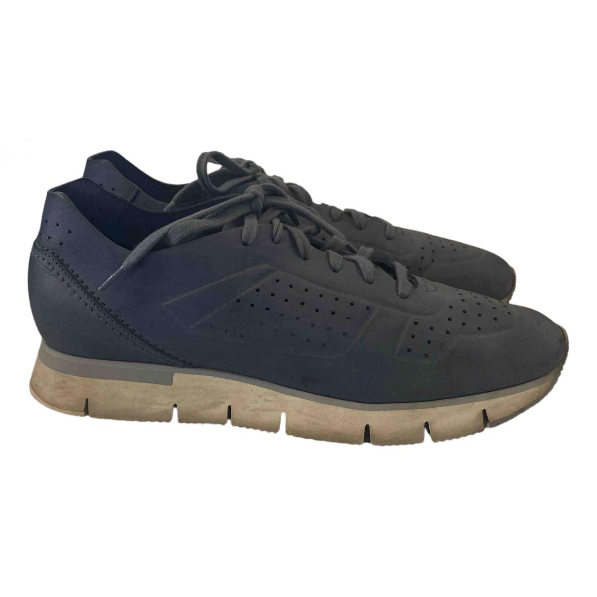 Santoni \N Sneakers in  Blau Leder