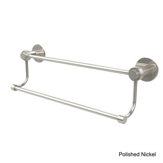 Allied Brass Mercury Collection 30-Inch Double Towel Bar with Groovy Accents (Polished Nickel)
