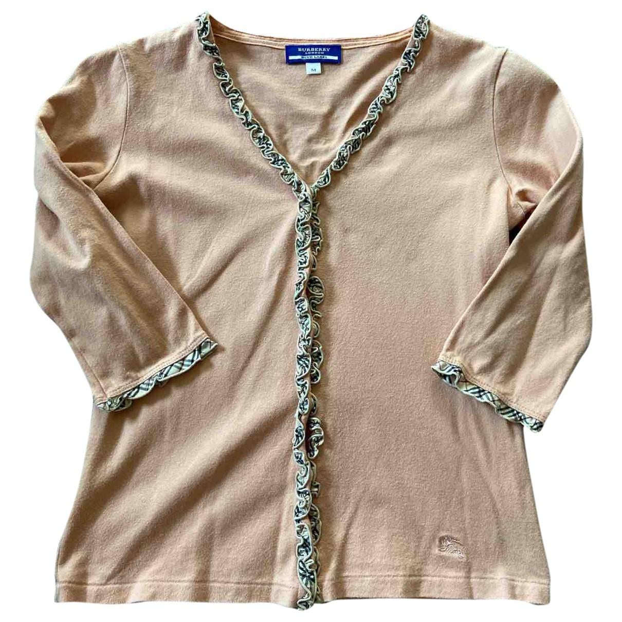 Burberry \N Pink Cotton Knitwear for Women M International