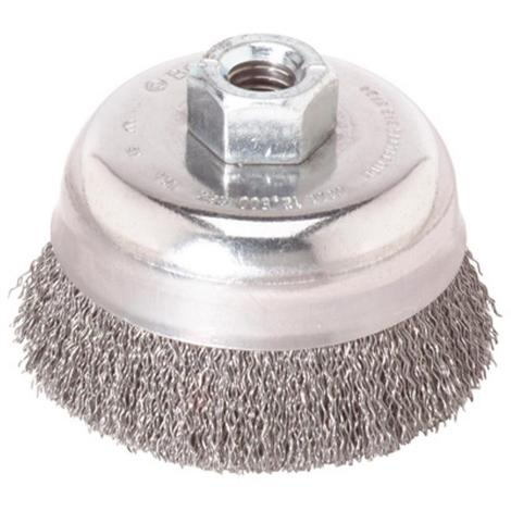 Bosch 6 In. Wheel Dia. 5/8 In.-11 Arbor Carbon Steel Crimped Wire Cup Brush