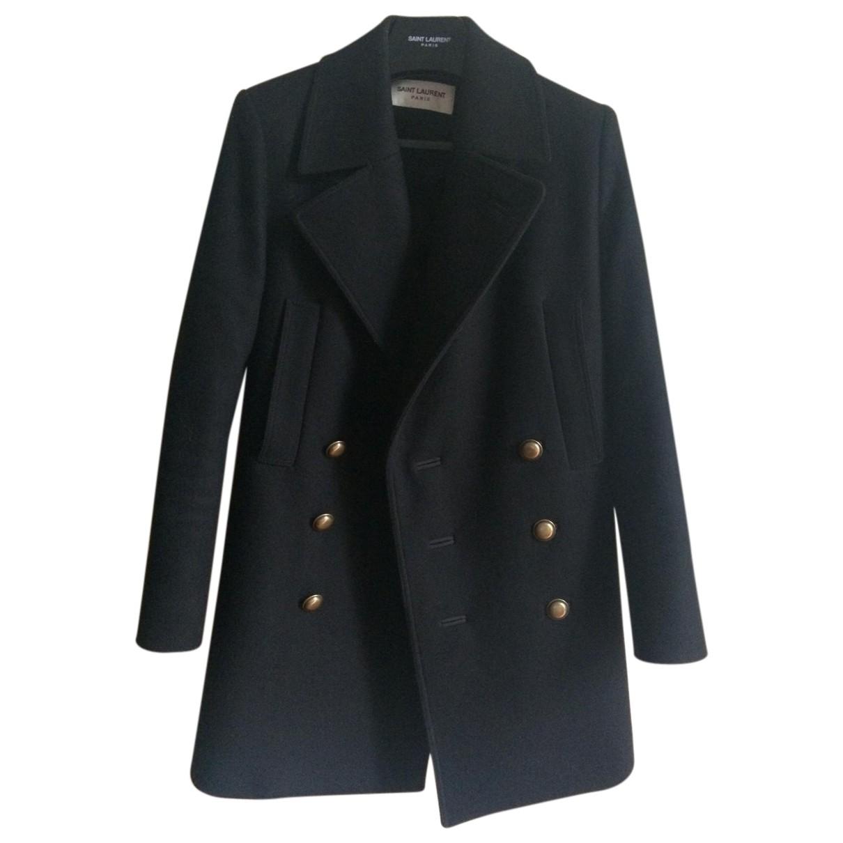 Saint Laurent N Black Wool coat for Women 34 FR