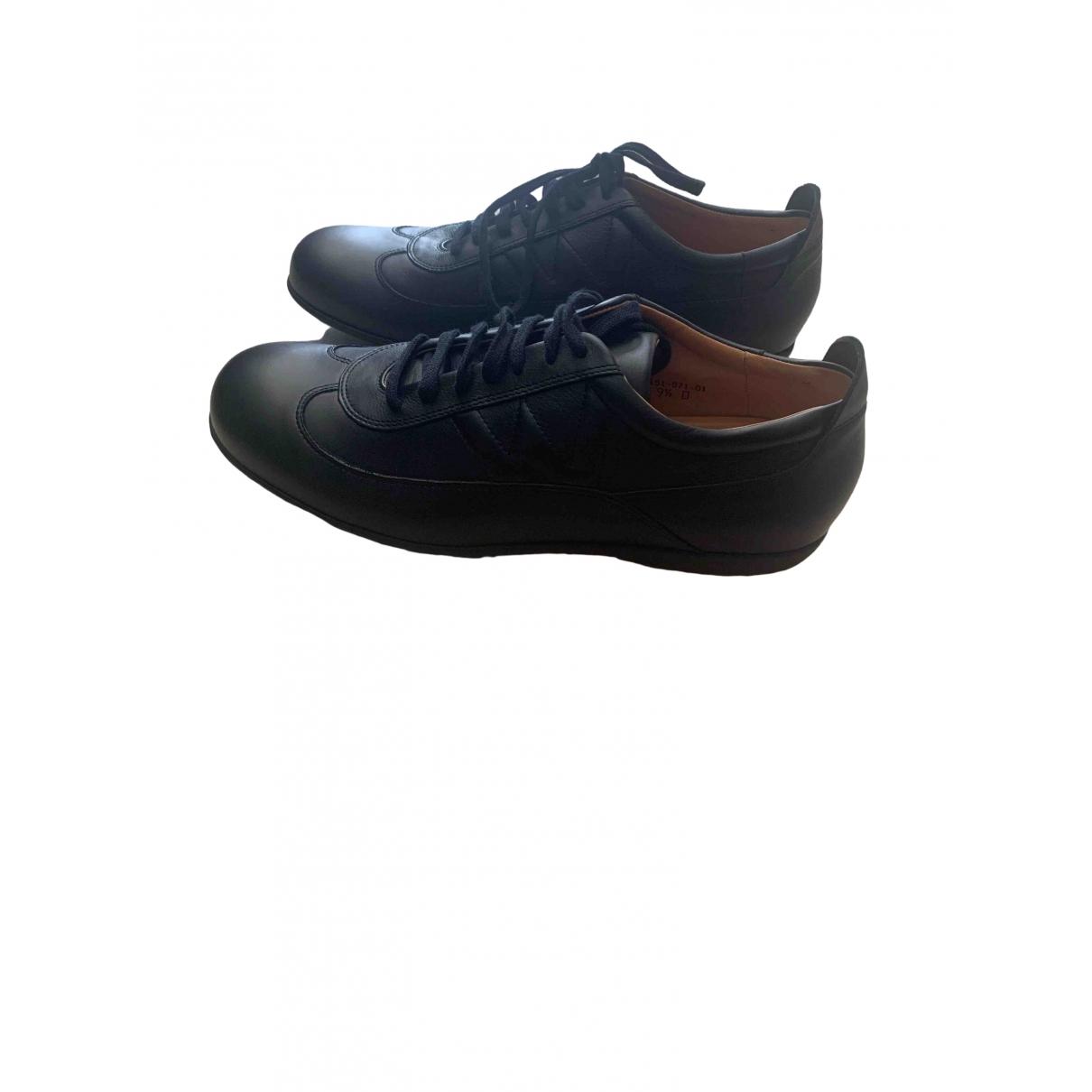 Jm Weston \N Black Leather Trainers for Men 9.5 US