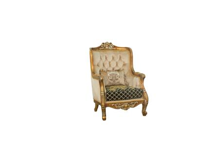 Luxor Collection II Luxury Accent Chair  Hand Made & Hand Carved into Mahogany Wood Solid  in Black Gold