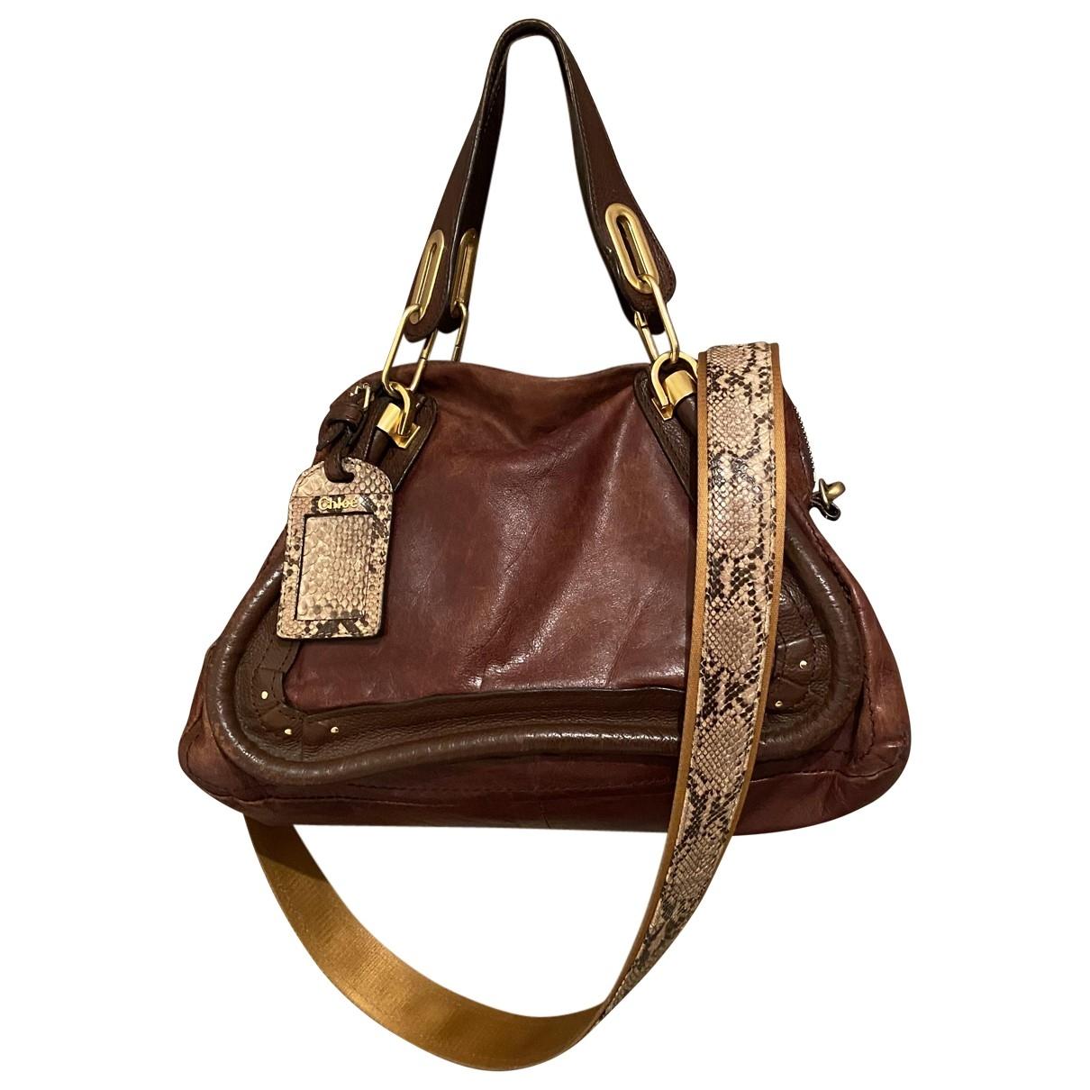 Chloe Paraty Handtasche in  Braun Leder