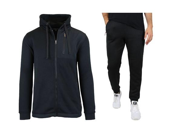 Men's Marled Fleece Lined Hoodie&jogger