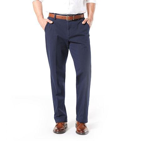 Dockers Men's Classic Fit Workday Khaki Smart 360 Flex Flat Front Pant D3, 33 30, Blue