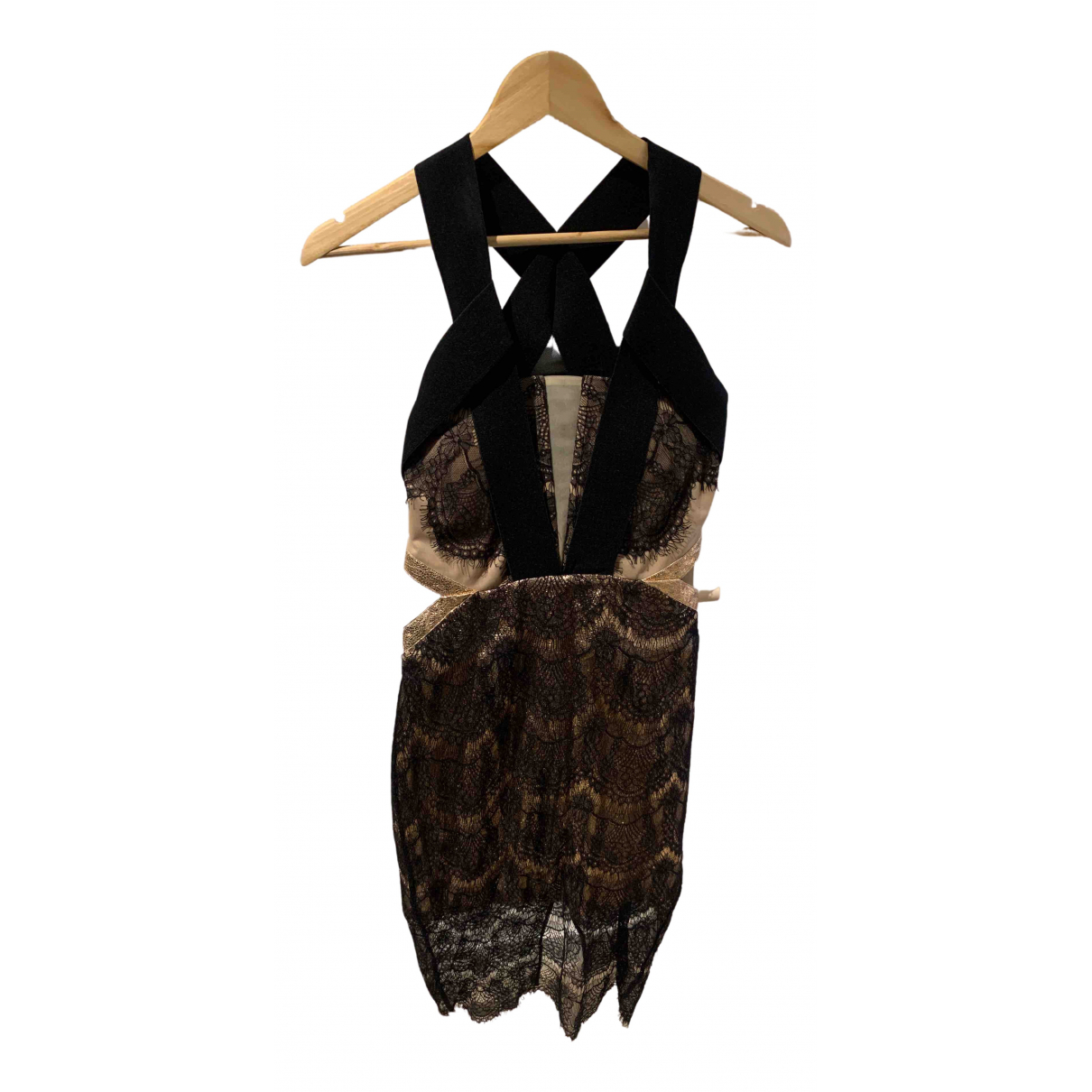 Three Floor Fashion - Robe   pour femme en dentelle - noir