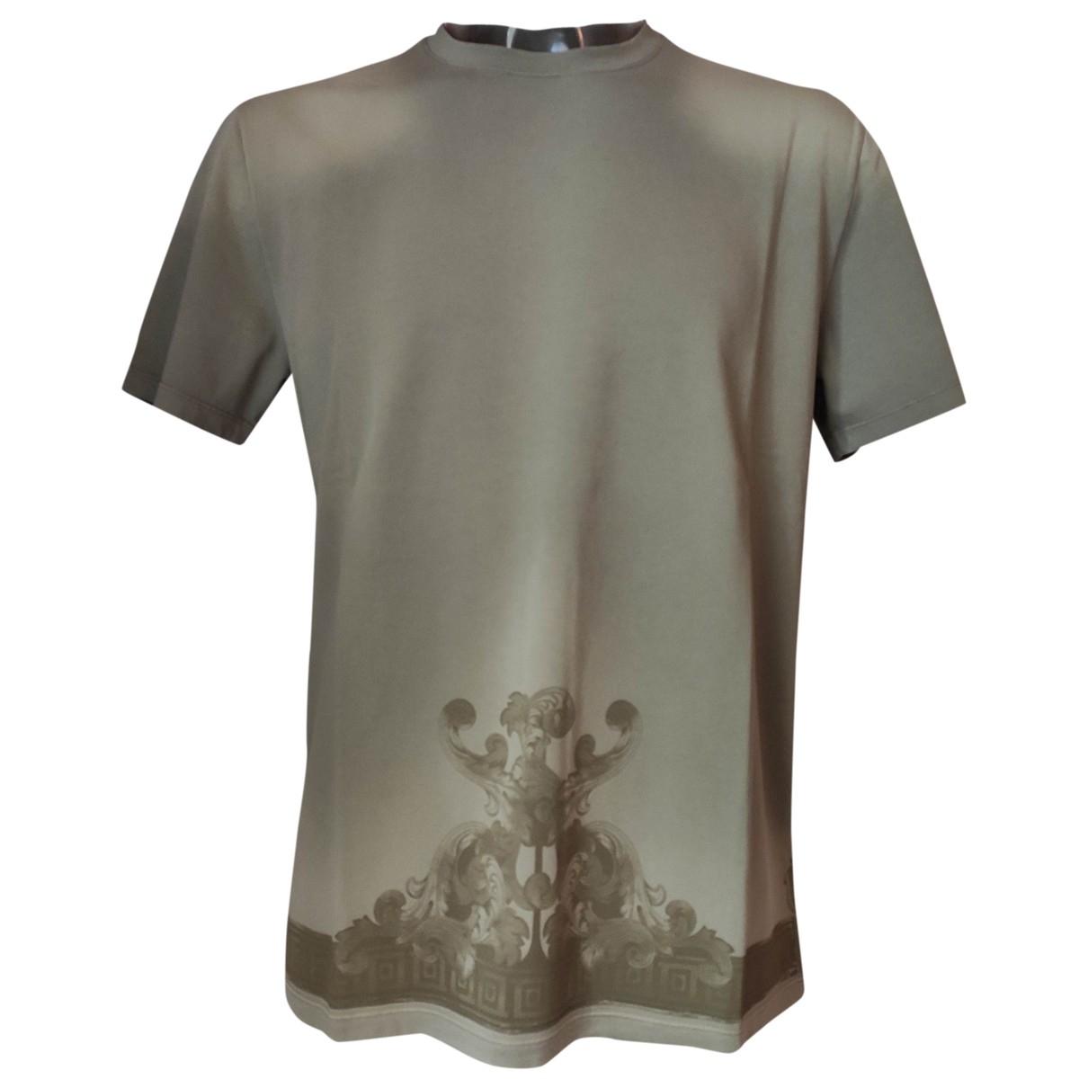 Versace - Tee shirts   pour homme en coton - kaki