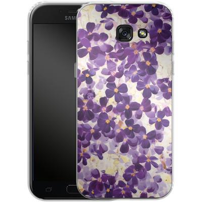 Samsung Galaxy A5 (2017) Silikon Handyhuelle - Violet Bloom von Amy Sia