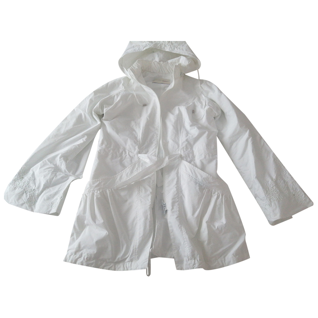 Non Signé / Unsigned \N White jacket for Women 42 IT