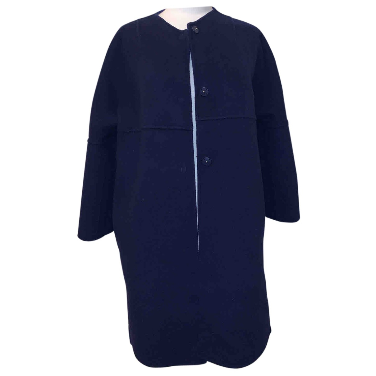 Marella N Blue Wool coat for Women M International