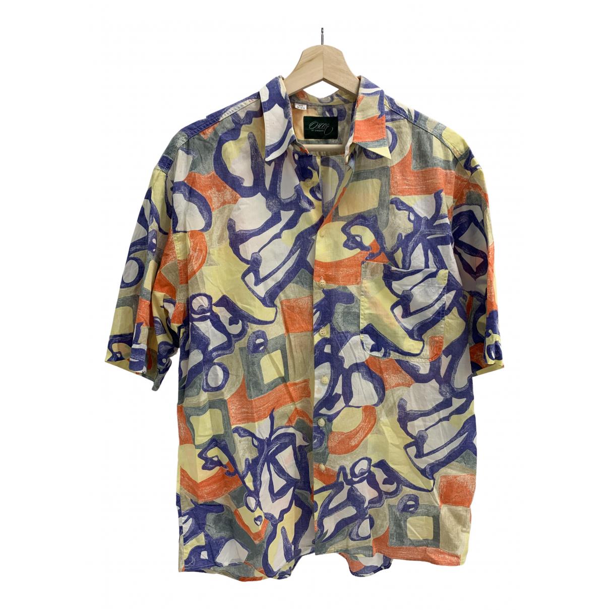 Non Signé / Unsigned N Multicolour Cotton Shirts for Men 39 EU (tour de cou / collar)