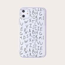 1 Stueck iPhone Huelle mit Buchstaben Grafik