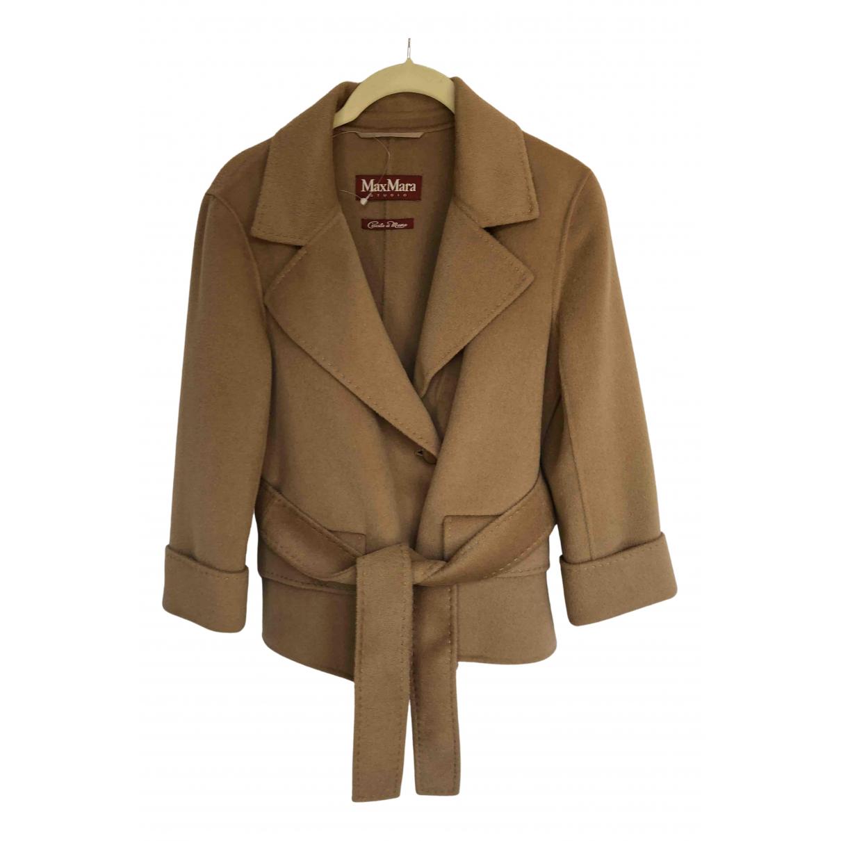 Max Mara Studio N Camel Wool jacket for Women 8 UK