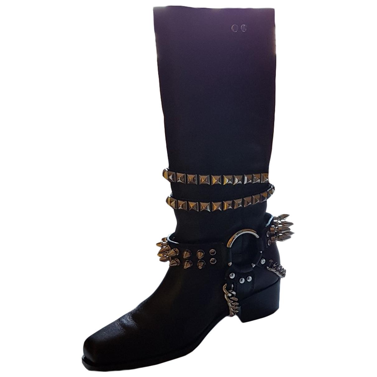 Botas altas de Cuero Moschino
