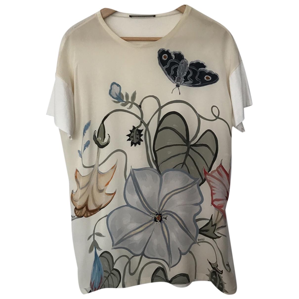 Gucci \N Beige Silk  top for Women 46 IT
