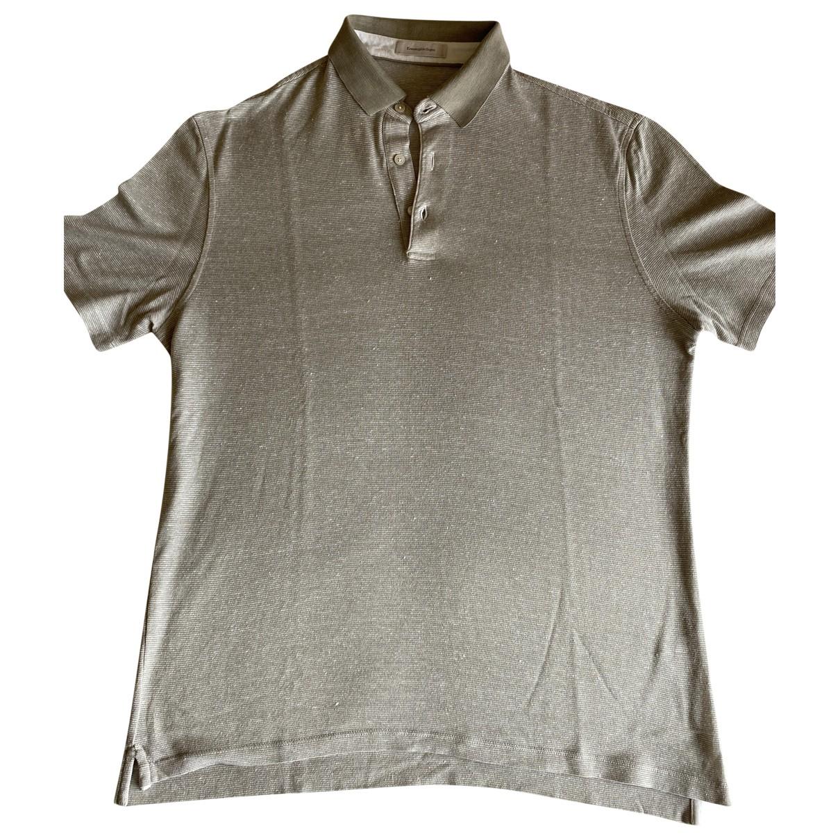 Ermenegildo Zegna \N Poloshirts in  Beige Baumwolle