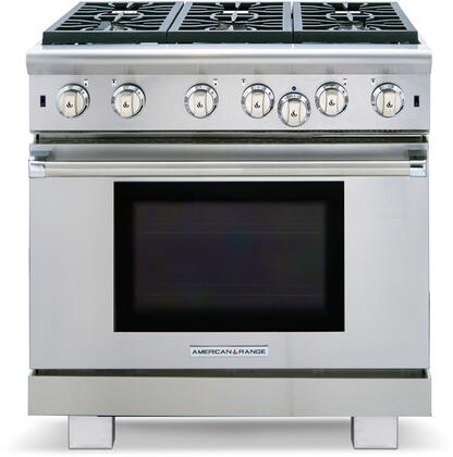 ARROB-636N 36 Performer Series Natural Gas Range with 6 Open Burners  5.3 cu. ft. Capacity  and Innovection Convection System  in Stainless