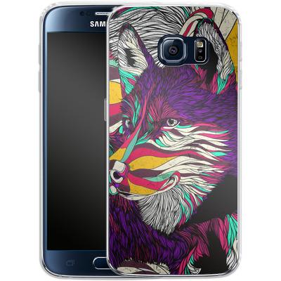 Samsung Galaxy S6 Silikon Handyhuelle - Color Husky von Danny Ivan