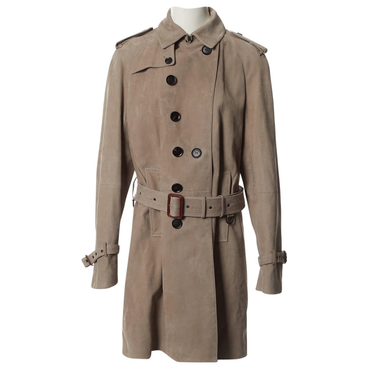Burberry \N Beige Suede coat  for Men 52 FR