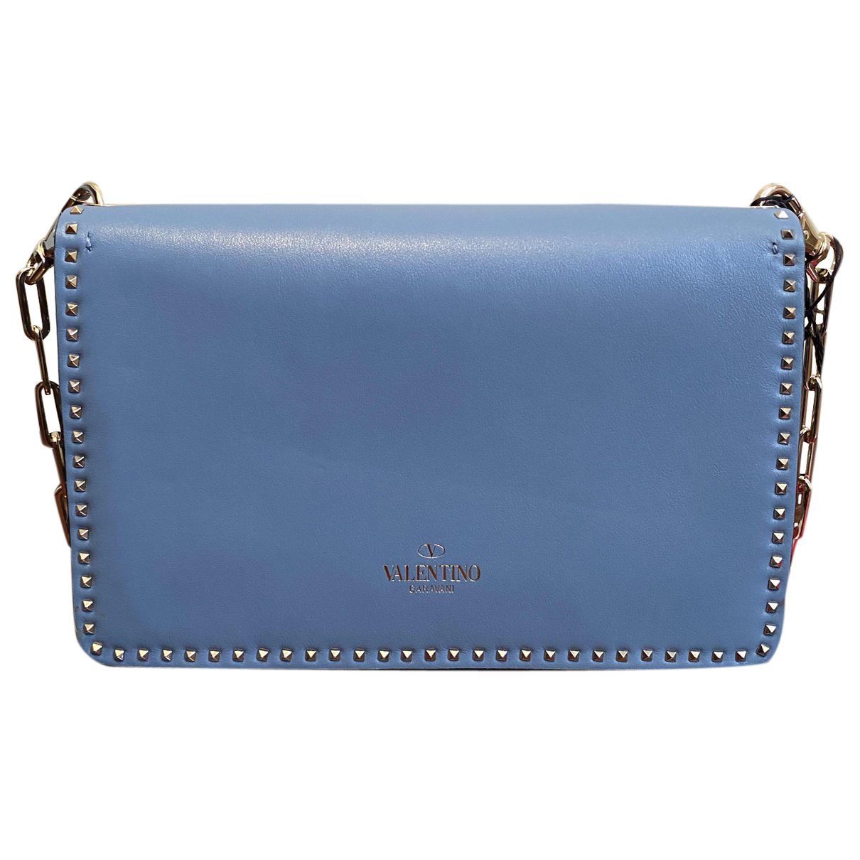 Valentino Garavani Rockstud Turquoise Leather Clutch bag for Women N